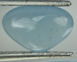 3.17 Cts Natural Sea Blue Aquamarine Cabochon Brazil Gem