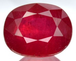 2.99 Cts Natural Red Ruby Oval Cut Thailand Gem