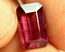 8.88 Carat Fiery Red Emerald Cut Ruby - Gorgeous
