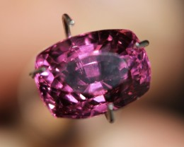 3.40 Ct Very bright slightly pinkish purple garnet.