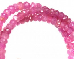 61CTS PINK SAPPHIRE BEADS STRAND PG-6207