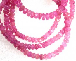58CTS PINK SAPPHIRE BEADS STRAND PG-6208