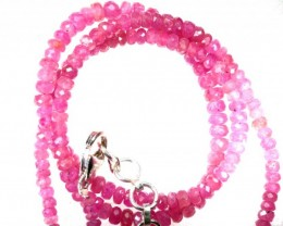 65CTS PINK SAPPHIRE BEADS STRAND PG-6209