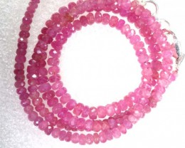 61CTS PINK SAPPHIRE BEADS STRAND PG-6210