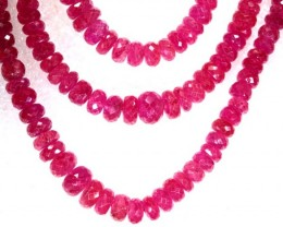 CTS PINK SAPPHIRE BEADS 3STRANDS PG-2211