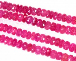253CTS PINK SAPPHIRE BEADS 2STRANDS PG-2213