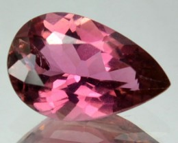 1.23 Cts Natural Tourmaline Reddish Pink Pear Mozambique