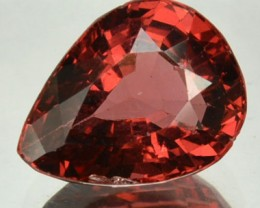 2.30 Cts Natural Tourmaline Orangesh Red Pear Mozambique