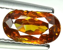 ~RARE~ 1.58 Cts Natural Sphalerite Sunset Orange Oval Spain