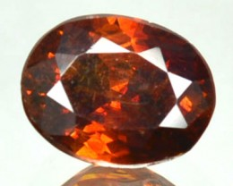 ~RARE~ 1.14 Cts Natural Sphalerite Sunset Orange Oval Spain