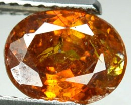 ~RARE~ 1.50 Cts Natural Sphalerite Sunset Orange Oval Spain