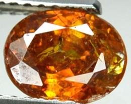 ~RARE~ 1.50 Cts Natural Sphalerite Sunset Orange Oval Spain