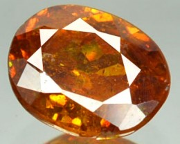 ~RARE~ 1.16 Cts Natural Sphalerite Sunset Orange Oval Spain