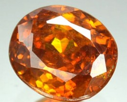 ~RARE~ 1.38 Cts Natural Sphalerite Sunset Orange Oval Spain
