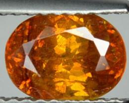 ~RARE~ 2.10 Cts Natural Sphalerite Sunset Orange Oval Spain