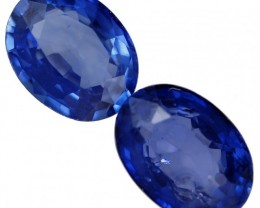1.3 CTS ROYAL BLUE SRI LANKA SAPPHIRE PAIR [STS771]SAFE