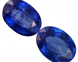 1.2 CTS ROYAL BLUE SRI LANKA SAPPHIRE PAIR [STS772]SAFE