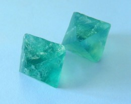 Green Fluorite Nugget Faceted Cabochon Pairs,22x17mm,75ct(17062705)
