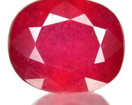 2.35 Cts Natural Blood Red Ruby Cushion Cut Thailand Gem