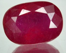 2.83  Cts Natural Blood Red Ruby Cushion Cut Thailand Gem