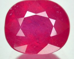 2.63 Cts Natural Blood Red Ruby Cushion Cut Thailand Gem