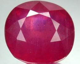 2.65 Cts Natural Blood Red Ruby Cushion Cut Thailand Gem
