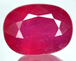 2.92  Cts Natural Blood Red Ruby Cushion Cut Thailand Gem