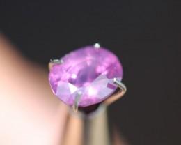 1.70 Ct purplish pink kashmir Batakundi sapphire.
