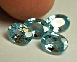 7.65 Carat VS Southeast Asian Zircon - 4pcs - Gorgeous