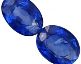 1.3 CTS ROYAL BLUE SRI LANKA SAPPHIRE PAIR [STS775]SAFE