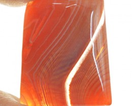 Genuine 28.50 Cts Oval Shape Orange Onyx Cab
