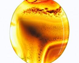 Genuine 34.00 Cts Orange Onyx Oval Shape Cab