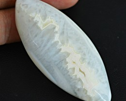 Genuine 87.95 Cts Untreated White Agate Cab