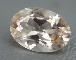 0.70 Crt Natural Morganite Faceted Gemstone (R 39)