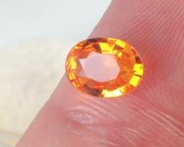 1.00 ct Sapphire - GIA Certified Orange Ceylon Oval Cut