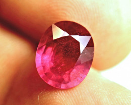 6.24 Carat Fiery Cherry Ruby