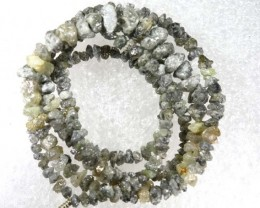 18.80 CTS METALLIC SILVER GREY ROUGH DIAMOND STRAND SD-214