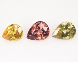 5.84 Cts Natural Fancy Zircon 3 Pcs Tanzania