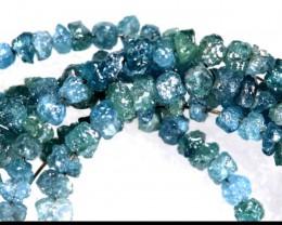 20 CTS METALLIC BLUE ROUGH DIAMOND STRAND SD-244