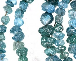 20 CTS METALLIC BLUE ROUGH DIAMOND STRAND SD-245