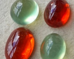 10.90 Cts~ Finest Ever~EXCEPTIONAL NATURAL FANCY COLOR PREHNITE GARNET CABS