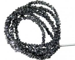 21.20 CTS METALLIC BLACK ROUGH DIAMOND STRAND SD-246