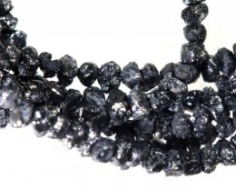 16.80 CTS METALLIC BLACK ROUGH DIAMOND STRAND SD-248