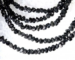 14.50 CTS METALLIC BLACK ROUGH DIAMOND STRAND SD-250