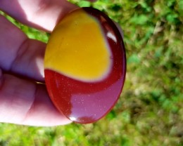 mookaite Jasper 43mm 60ct oval cabochon 43 by 34 by 5mm