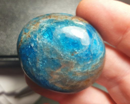 Apatite cabochon 112ct 45mm neon blue SALE