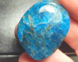 Apatite cabochon 63ct 40mm SALE neon blue