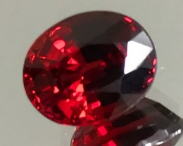 3.32ct Royal Red VVS Garnet - Fabulous fire and size