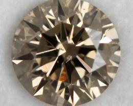 0.48CTS CERTIFIED CHAMPAGNE DIAMOND FACETED SD-268