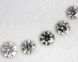 0.66CTS  GREY-BLUE DIAMONDS PARCEL 5PCS FACETED SD-269